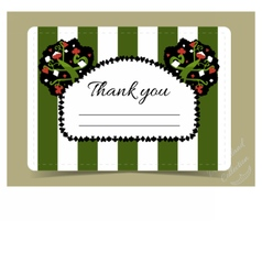 Thank you note - tree from wonderland garden vector