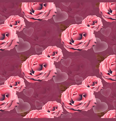 valentines day card roses heart pattern vector image