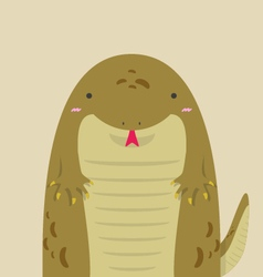 Cute big fat komodo vector