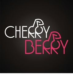 logo words cherry and berry vector image