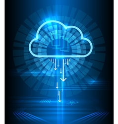 Cloud technology modern blue background clouds vector