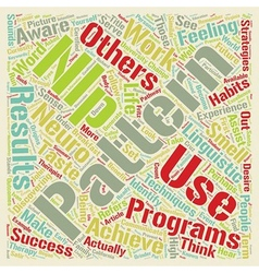 Nlp your pathway to personal success text vector
