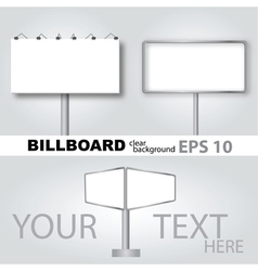 Clear billboard background vector