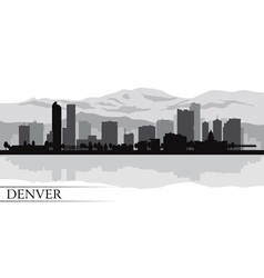 Denver city skyline silhouette background vector image