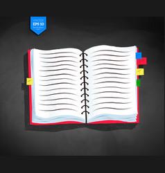Opened school notebook vector