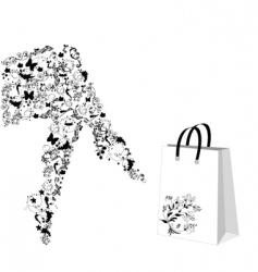 shopping break vector image