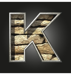 Old stone letter k vector