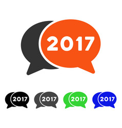 2017 chat flat icon vector