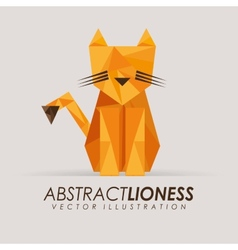 Abstract animal vector