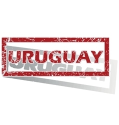 Uruguay outlined stamp vector