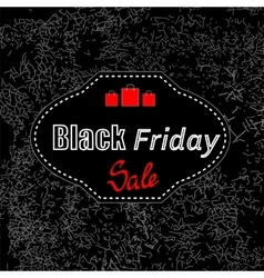 Black Friday Sticker vector image