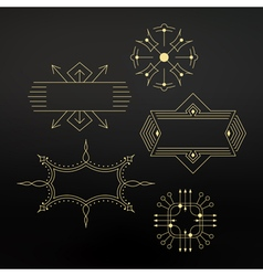 Flourishes calligraphic frame template vector