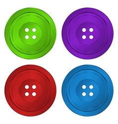 4 brilliant iridescent colored plastic sewing vector