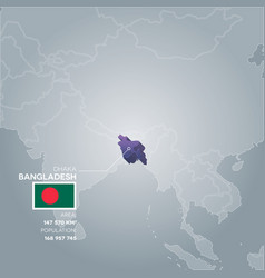 Bangladesh information map vector