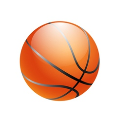 Basketball ball isolated on white background vector