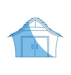 cartoon house manger wooden christmas vector image vector image