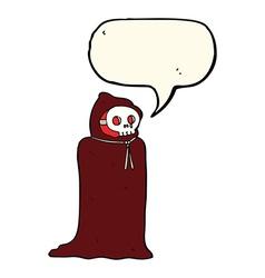 Cartoon spooky halloween costume with speech vector