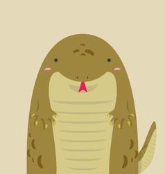 cute big fat komodo vector image vector image