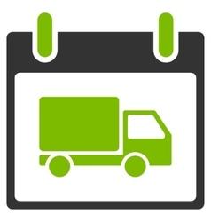 Delivery car calendar day flat icon vector