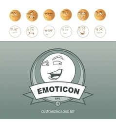 Emoticons customizing vector
