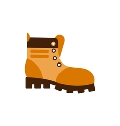 Enduring leather boot camping and hiking outdoor vector