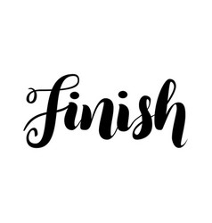 Finish lettering word logo isolated on white vector