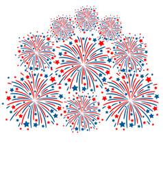 Firework white background vector