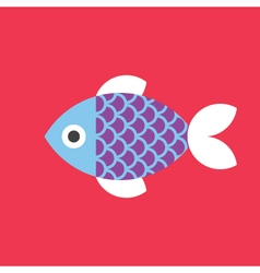 Fish Icon Animal vector image