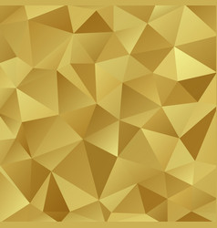gold shiny triangle background design vector image vector image