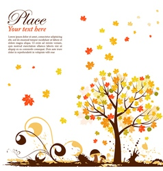 Grunge autumn vector