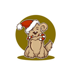 Happy christmas dog new year animal symbol vector