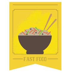isolated bowl of food vector image