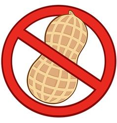 No peanuts vector