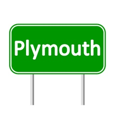 Plymouth road sign vector