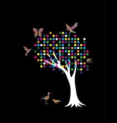 Pointilism tree vector