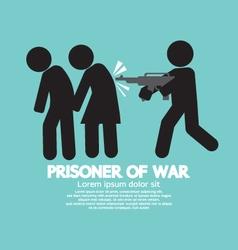 Prisoner Of War Symbol vector image vector image