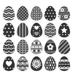 set of easter eggs decorated of ornament vector image vector image