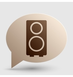 Speaker sign Brown gradient icon on vector image vector image