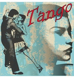 tango dance background vector image vector image