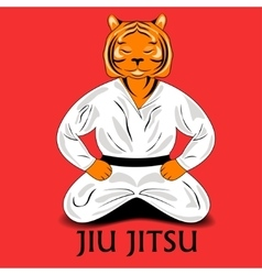 Tiger in a kimono vector