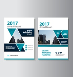Triangle annual report leaflet brochure flyer set vector