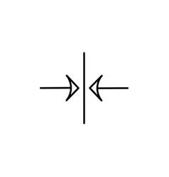 vertical center alignment icon vector image