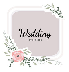 wedding card decor invitation to wedding vector image vector image