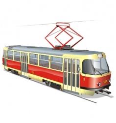 urban tram vector image