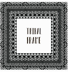 Black abstract tribal frame vector