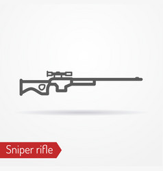 Sniper rifle silhouette icon vector