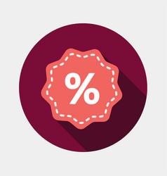 Percent tag icon vector