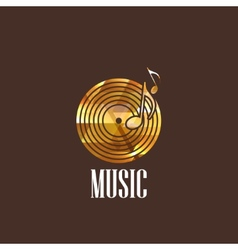 With vinyl disc icon vector