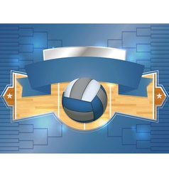 Volleyball tournament label vector