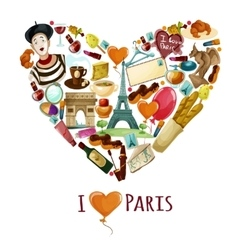 Paris touristic poster vector
